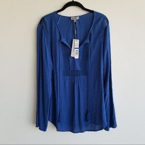 Joseph A | blue | tunic | NWT | summer | beach | L